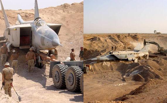 旧イラク空軍、砂漠に隠匿 ...