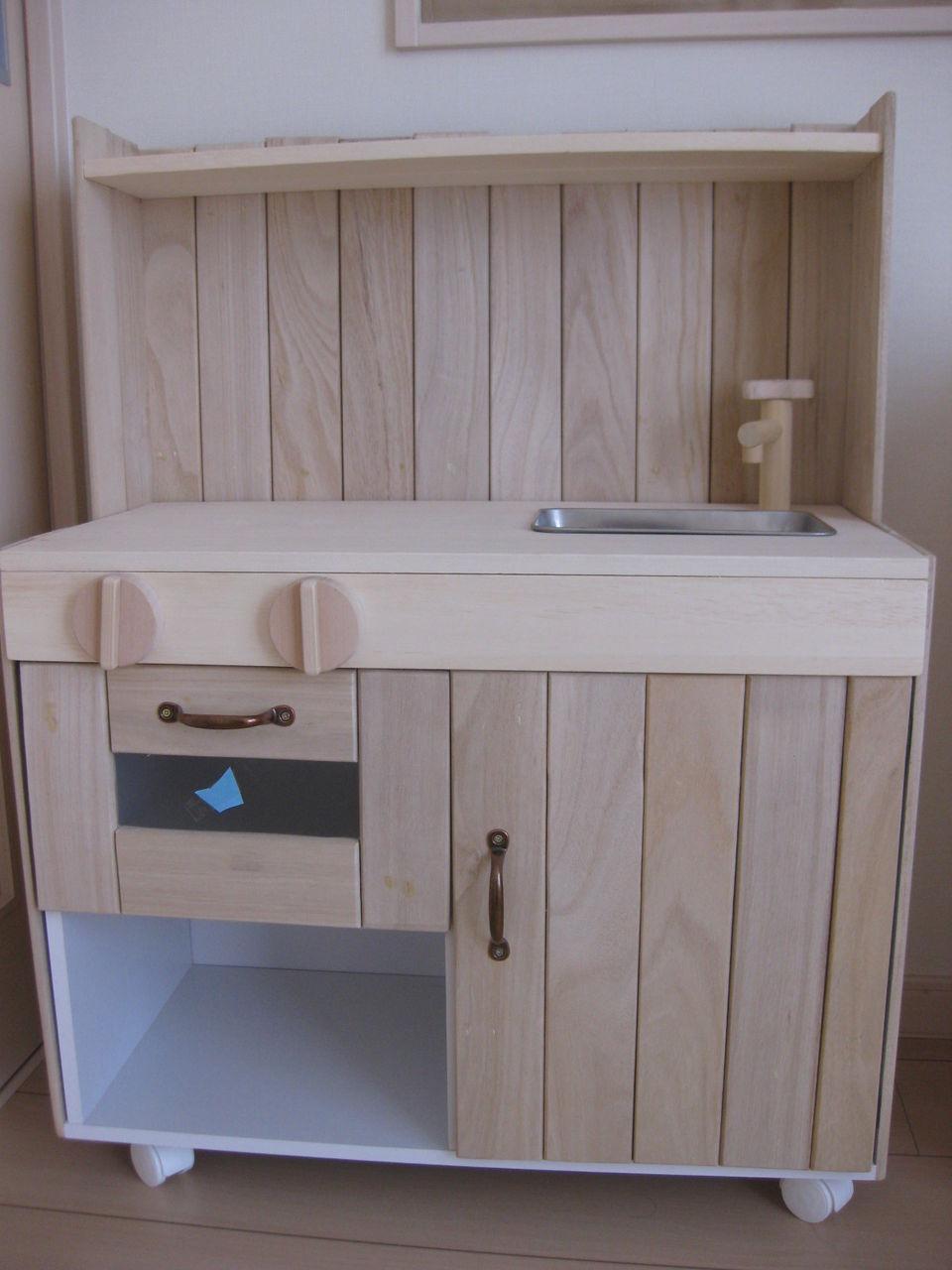 キッチン ままごとキッチン カラーボックス : ままごとキッチンの手作り実例 ...