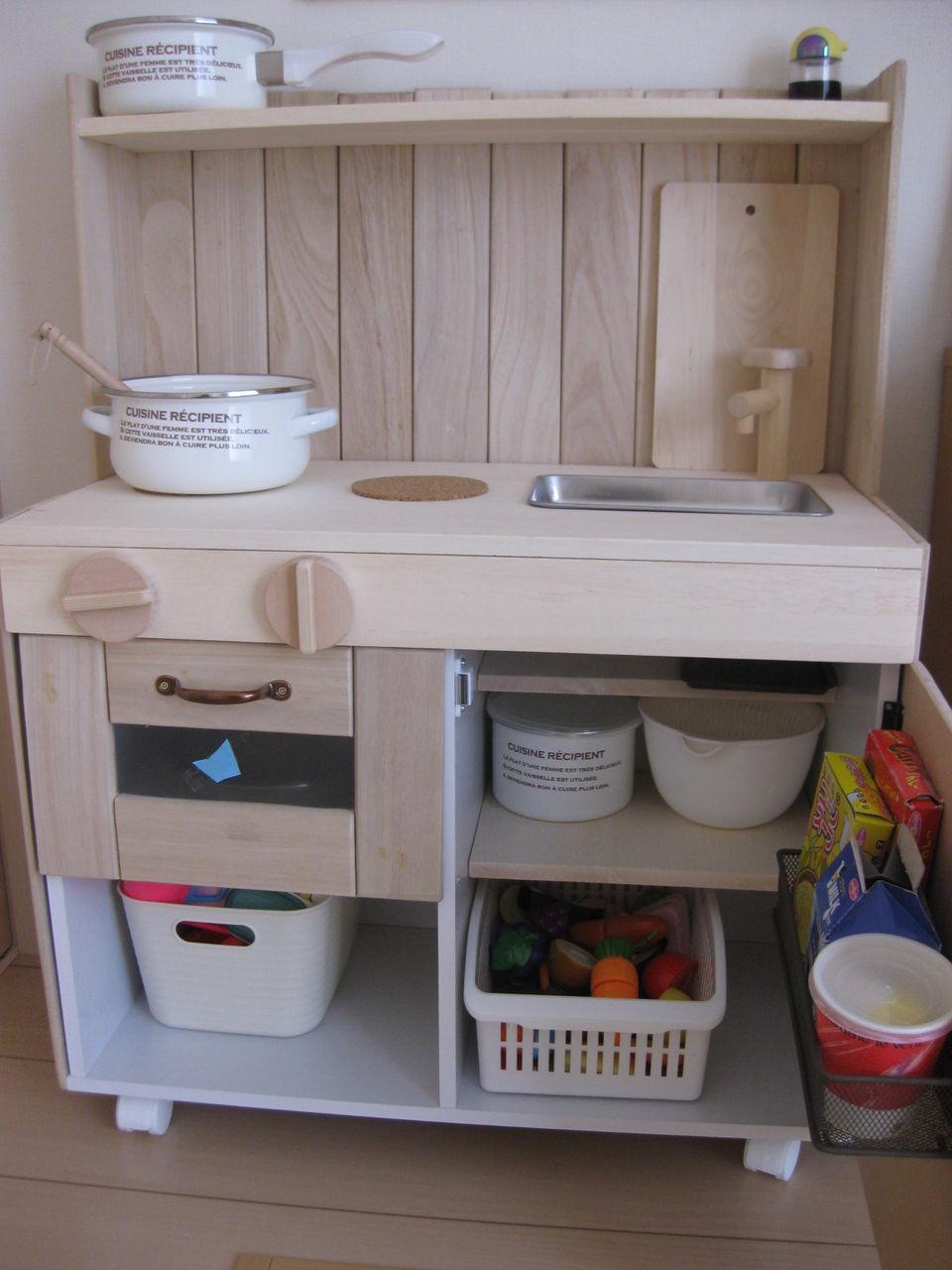キッチン ままごとキッチン カラーボックス : ... ままごとキッチン5つのテク