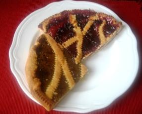 キウィとイチゴのパイ