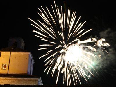 窓から花火