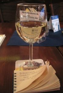 インスブルックのワインカフェで2