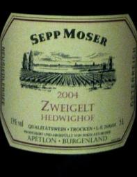 SEPP MOSER  zweigelt 2004
