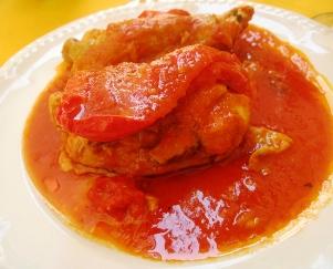 ローマ料理の夕食