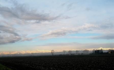 出発の朝の景色