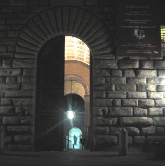 ピッティ宮殿の入り口