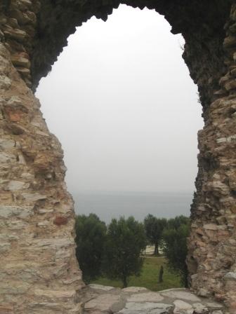 ローマ時代の遺跡にて