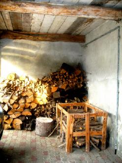牛小屋の入り口