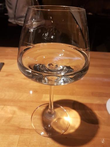 ワイングラスで