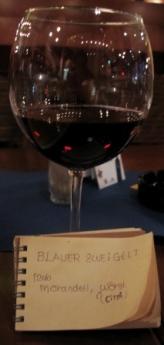 ワインカフェで zweigelt