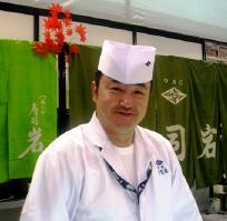 saloneで 寿司職人さん