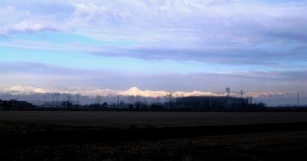 出発の朝 田舎の景色