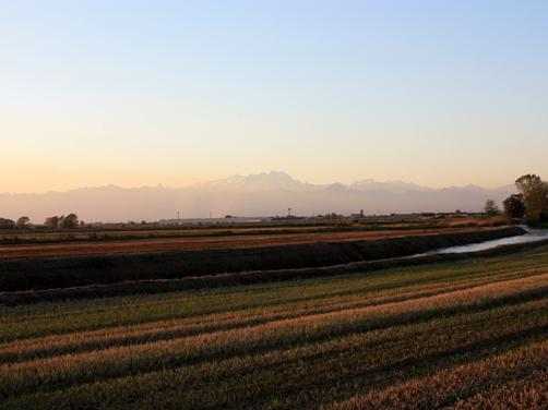 夕暮れの田園 1