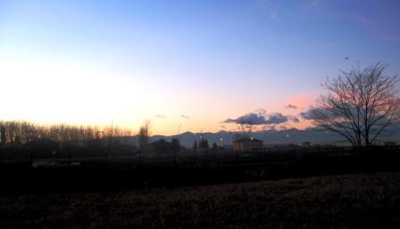 夕方の田園地帯 2007年1月