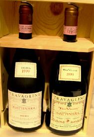 カフェのGattinaraワイン