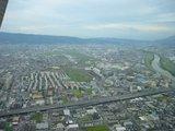 空から見た八尾空港