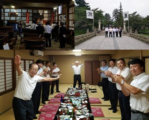 東光の酒蔵上杉神社懇親会