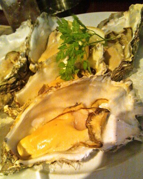 厚岸産牡蠣の焼き牡蠣