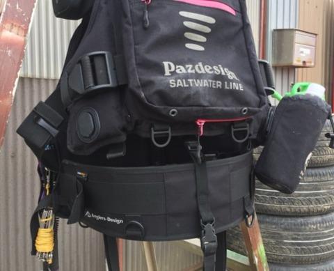釣行時の肩こり腰痛に悩んでる人にオススメのサポートベルト