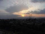高台寺からの夕日