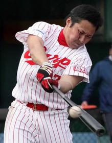 松山竜平 対パ .429 3本 14点 対セ .225 2本 7打点