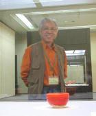 赤いぐい呑みと抹茶茶碗の陶芸家プロフィールはこちら