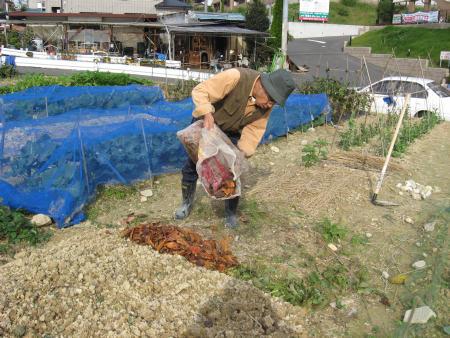 陶芸の粘土づくりと畑の土づくり