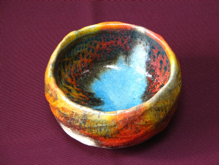 ウィーン出展作品「紅葉茶碗」