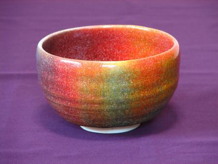 抹茶茶碗が七色に窯変、その1