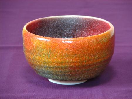 抹茶茶碗が七色に窯変、その2