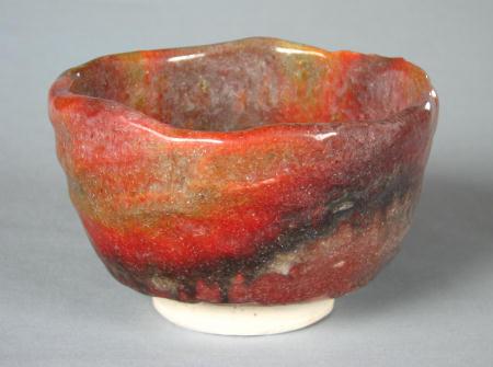 窯変紅葉茶碗「七彩」