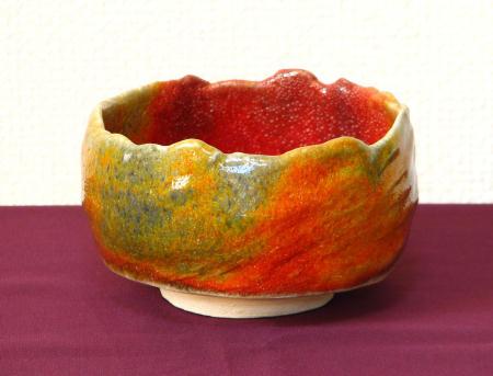 日本の紅葉を写す抹茶茶碗