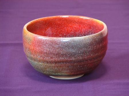 抹茶茶碗が七色に窯変、その3