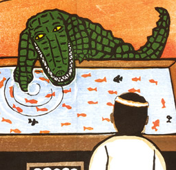 【死因:馬鹿】再三のワニ注意の警告を無視してワニのモノマネをして川に飛び込んだ男、即ワニの餌に