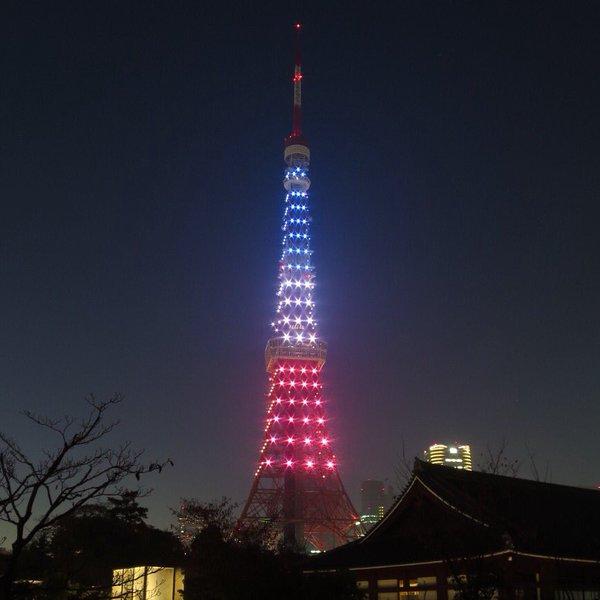 【他人の死を利用】東京タワーと東京スカイツリー、パリ同時テロ追悼の3色ライトアップ ネット識者「ハロウィンと同じノリでやってるだけ」
