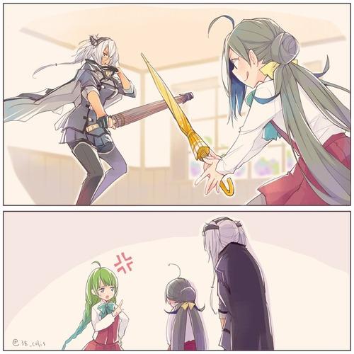 【艦これ】梅雨も遊んでくれる武蔵さん 他