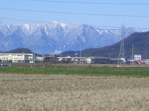 1月の雪山比良山系
