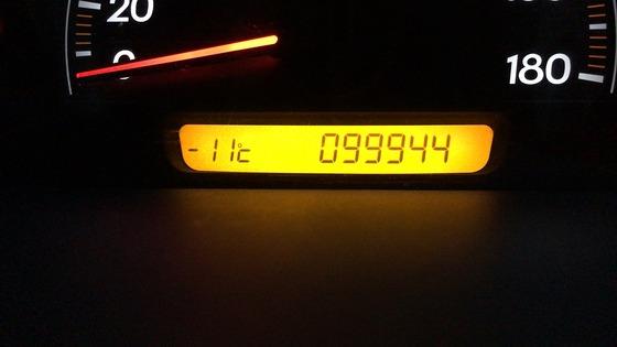 マイナス11度を表示している車内温度計の画像