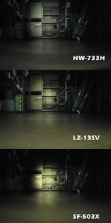 LZ-13SVは近くから均一な配光。