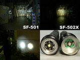 SF-502Xは集光、SF-501は拡散