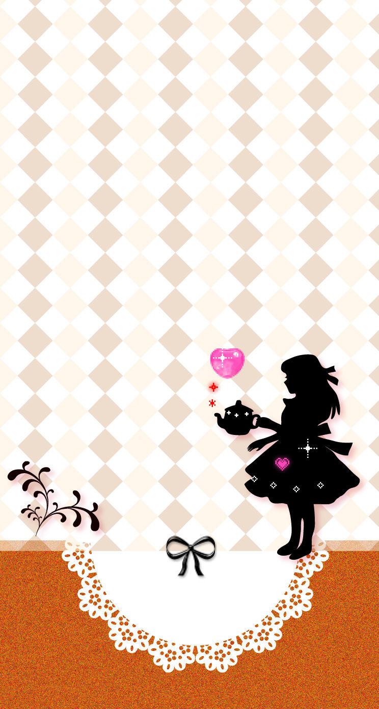 スマートフォン用のアリスの壁紙をアップしました 赤ずきんちゃんのかわいい素材