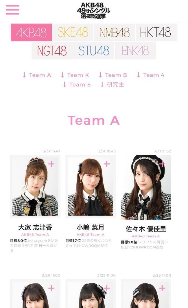 【速報】選抜総選挙立候補全メンバーの公約公開キタ━━━━(゚∀゚)━━━━!!【AKB48 49thシングル選抜総選挙/2017年第9回AKB48選抜総選挙】