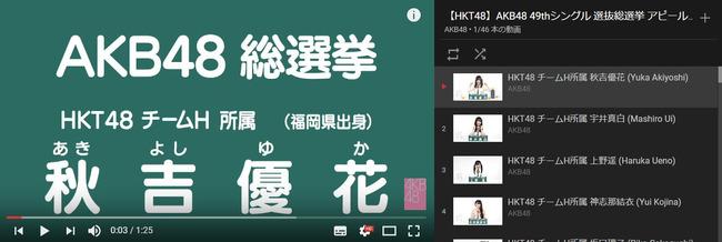 HKT48の最新の人気ランキングキタ━━━━━━(゚∀゚)━━━━━━!!!【総選挙アピールコメント】【AKB48 49thシングル選抜総選挙/2017年第9回AKB48選抜総選挙】