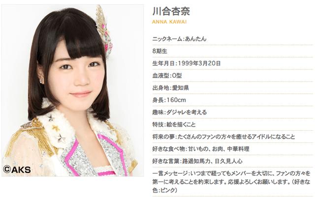 【速報】SKE48研究生川合杏奈が本日4月12日をもって卒業!!!