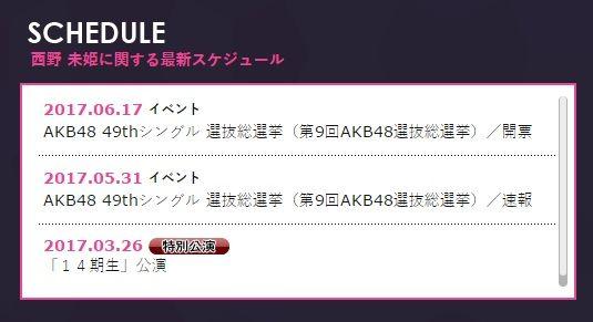 西野未姫が今年の総選挙に出馬か!?【AKB4849thシングル選抜総選挙/2017年第9回AKB48選抜総選挙】