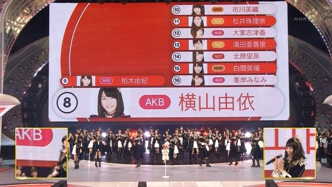 「横山由依 第67回NHK紅白歌合戦」の画像検索結果