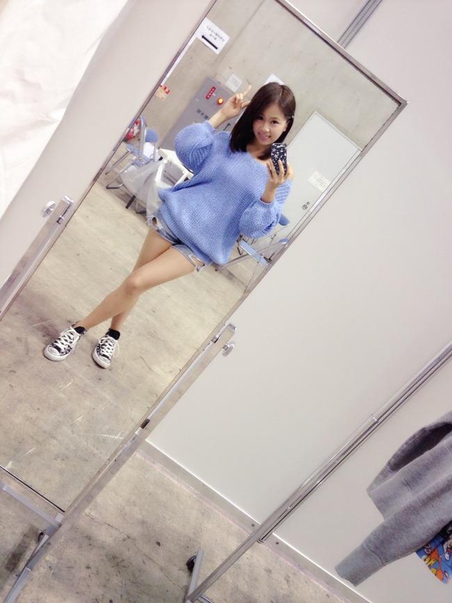 島田晴香さんの脚