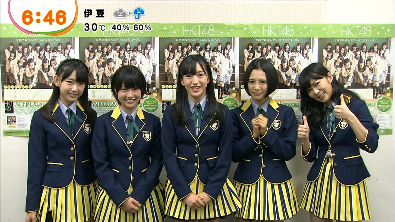 めざましテレビ「出演HKT48 メロンジュースPR活動」のキャプまとめ