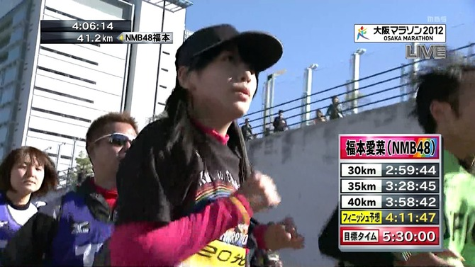 大阪マラソンに挑戦する福本愛菜