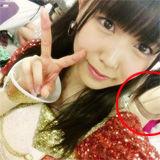 『NMB48白間美瑠ぐっじょぶ!ブログに誰かのブラ姿がキタ━━( ^ω^)━━!!』